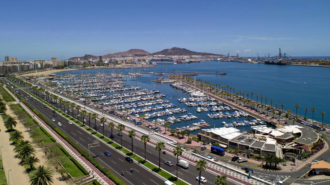 Ansicht von Las Palmas de Gran Canaria Hafens