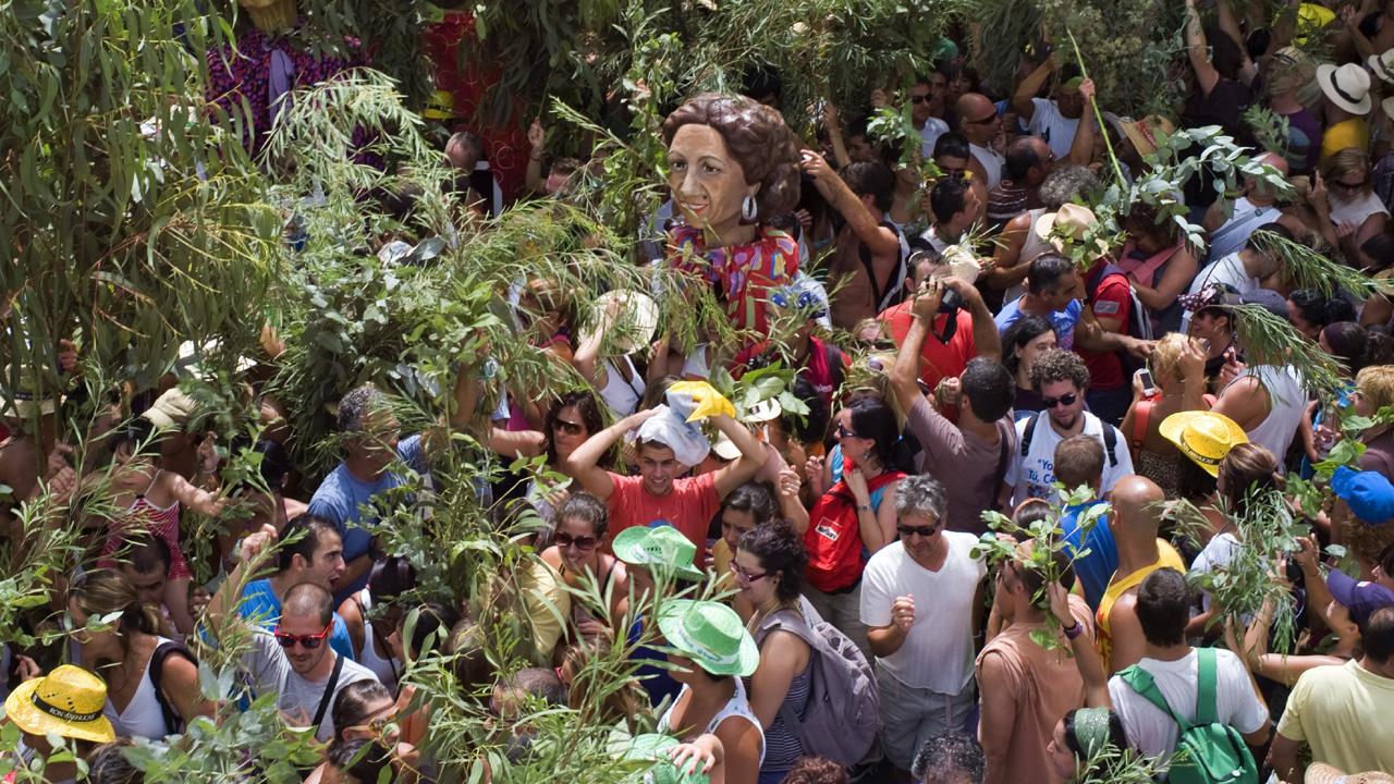 Celebración de la Fiesta de La Rama. Agaete, Gran Canaria