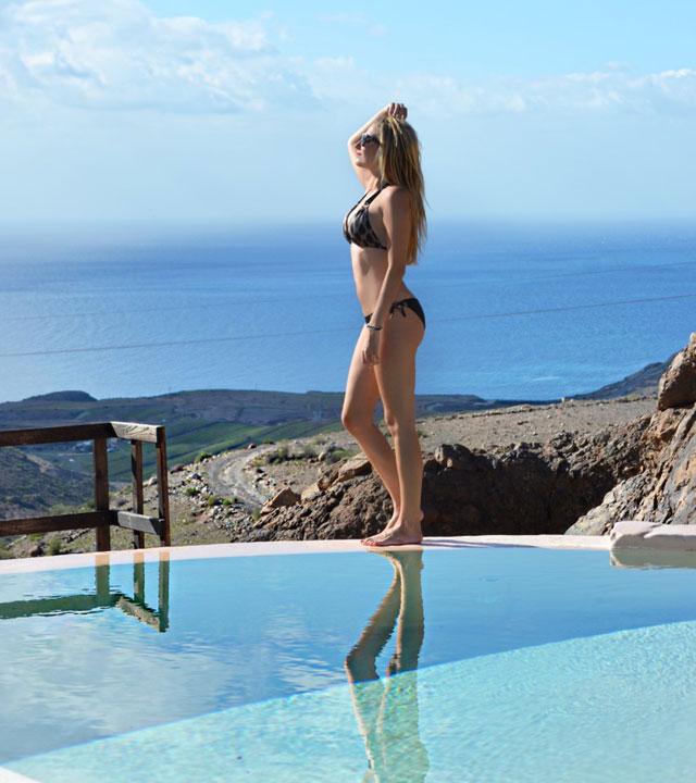 Lara Martín Gilarranz en el Sheraton Salobre Golf Resort & Spa, en Gran Canaria