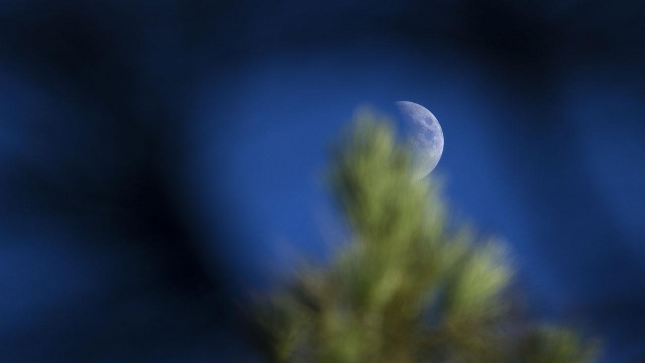 Luna en el cielo de Gran Canaria
