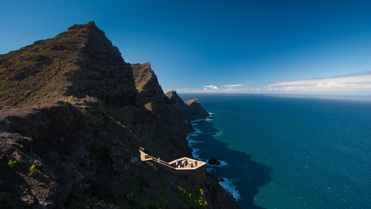 """Aussichtspunkt """"El Balcón"""", auf der Nordroute Gran Canarias"""