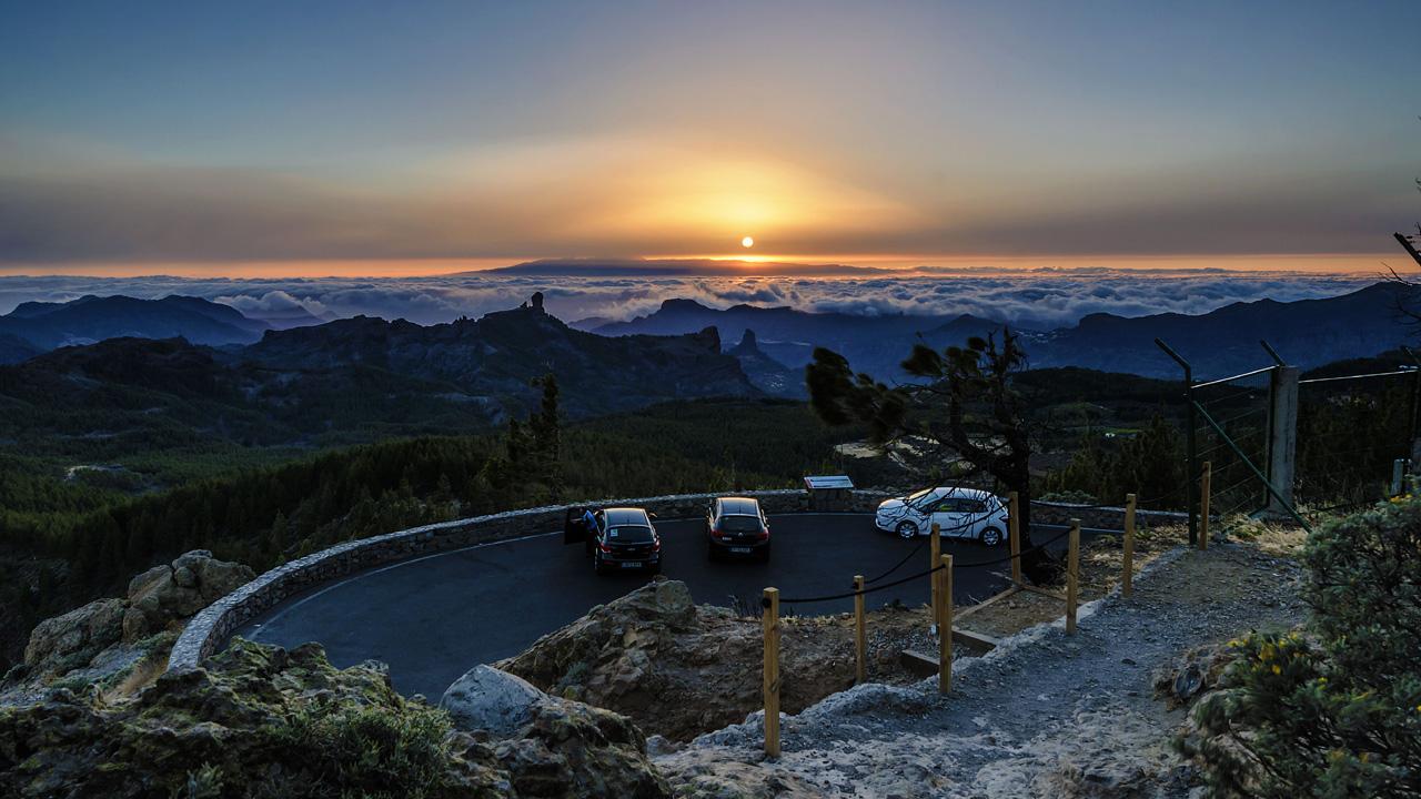 Vistas desde la zona del Mirador del Pico de los Pozos de Las Nieves, en Gran Canaria
