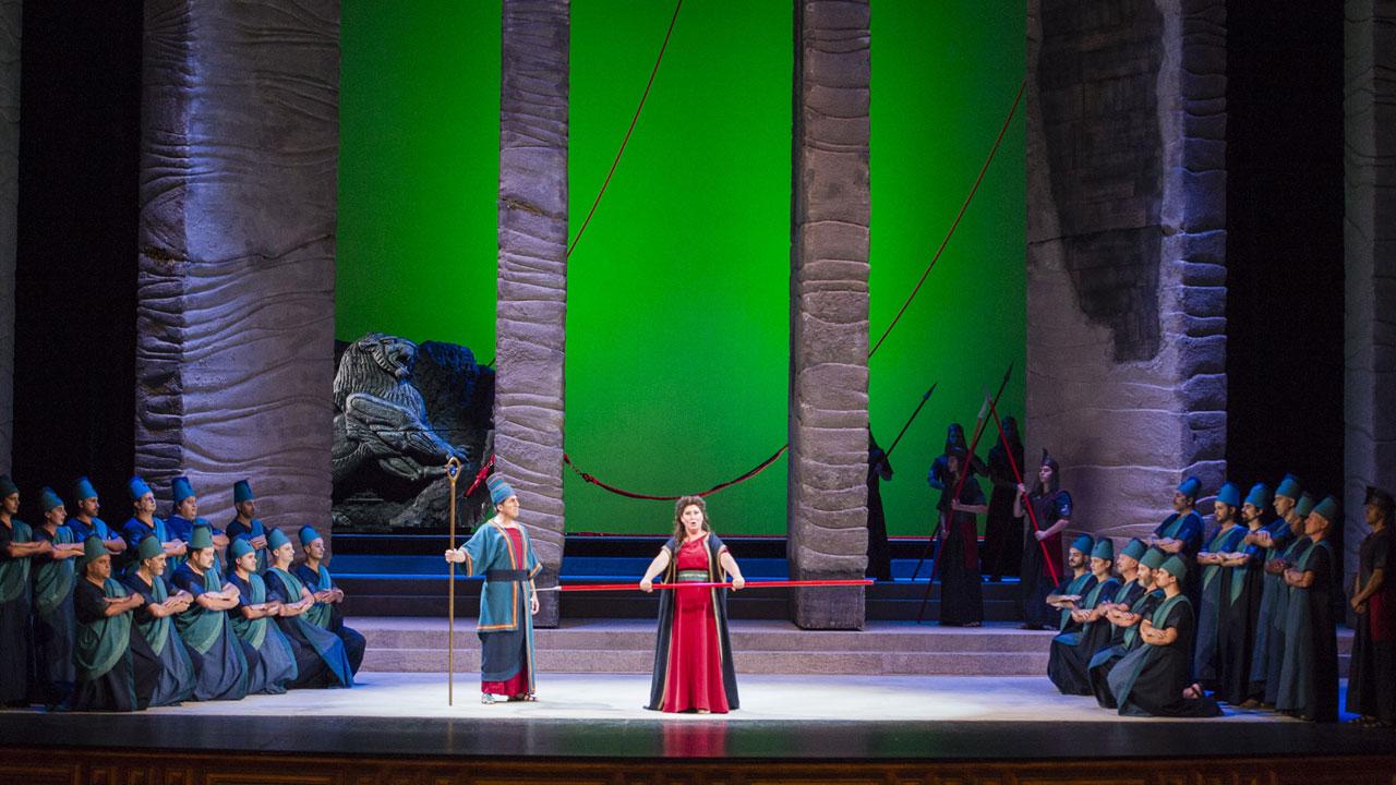 Nabucco in der 49 Ausgabe der Las Palmas de Gran Canaria Alfredo Kraus Opernsaison. Foto von Nacho González/ACO