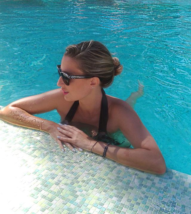 Lara Martín Gilarranz en el Hotel Seaside Palm Beach, en Gran Canaria