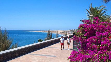 Paseo (Promenade) Costa Canaria in Playa del Inglés, Gran Canaria