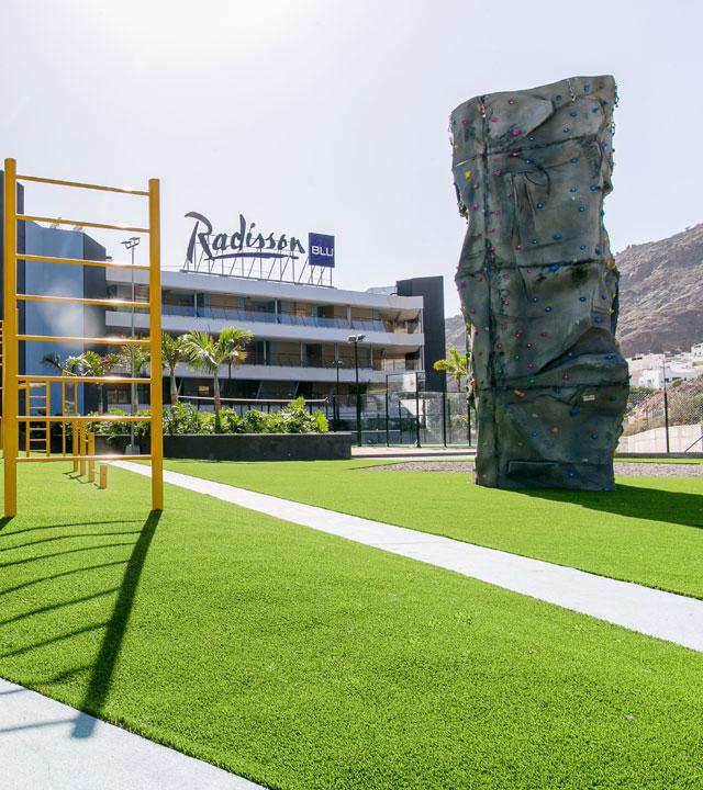 Rocódromo en el Radisson Blu Resort & Spa, Gran Canaria Mogán. Fotografía de Radisson Blu Resort & Spa, Gran Canaria Mogán