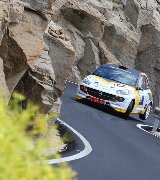 Tramo de Rally Islas Canarias, en una edición anterior de la carrera. Gran Canaria