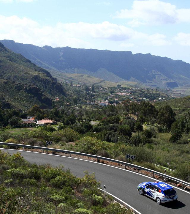 Tramo del Rally Islas Canarias en una edición anterior, en Gran Canaria