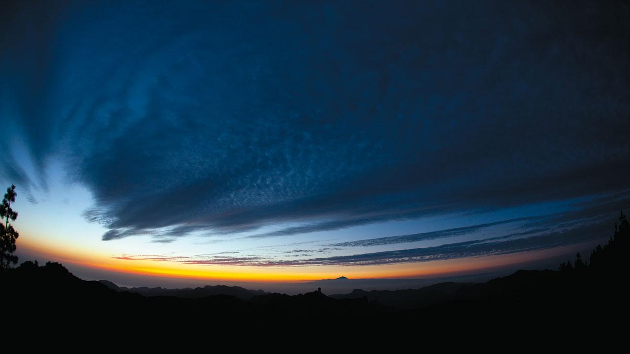 Roque Nublo al anochecer, en Gran Canaria