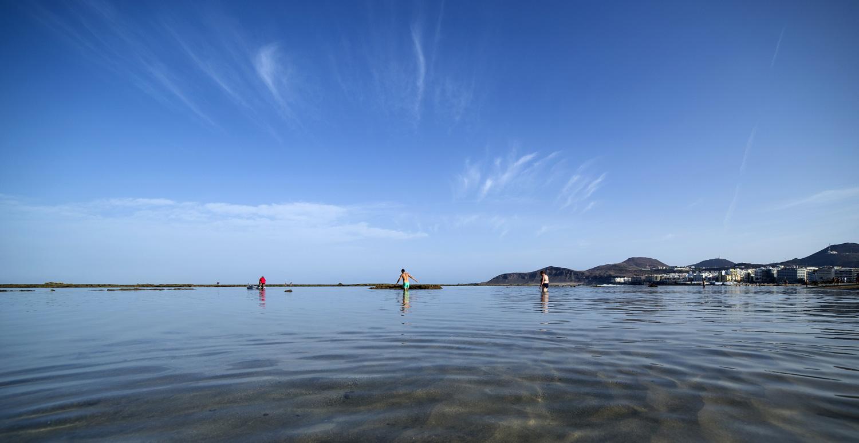 """Mar """"plato"""" en la Playa de Las Canteras"""
