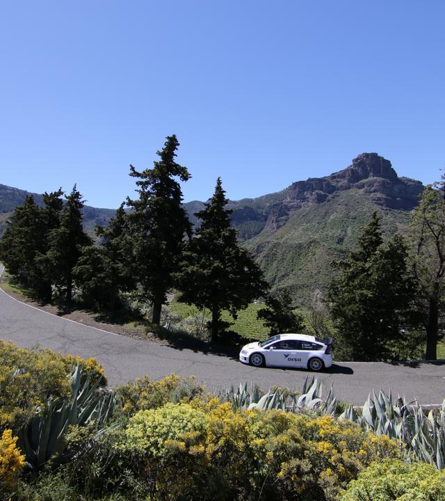 Test del Rally Islas Canarias, en una edición anterior. Gran Canaria