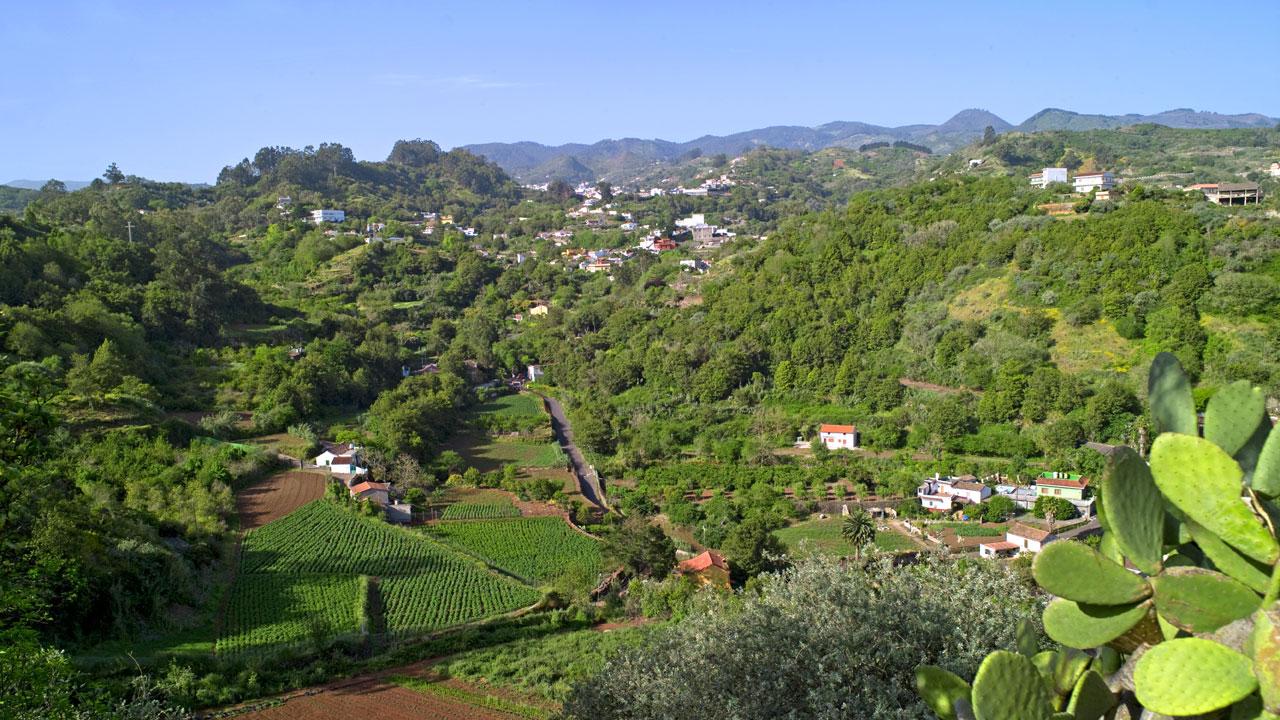 Vista de Valleseco, municipio de Gran Canaria