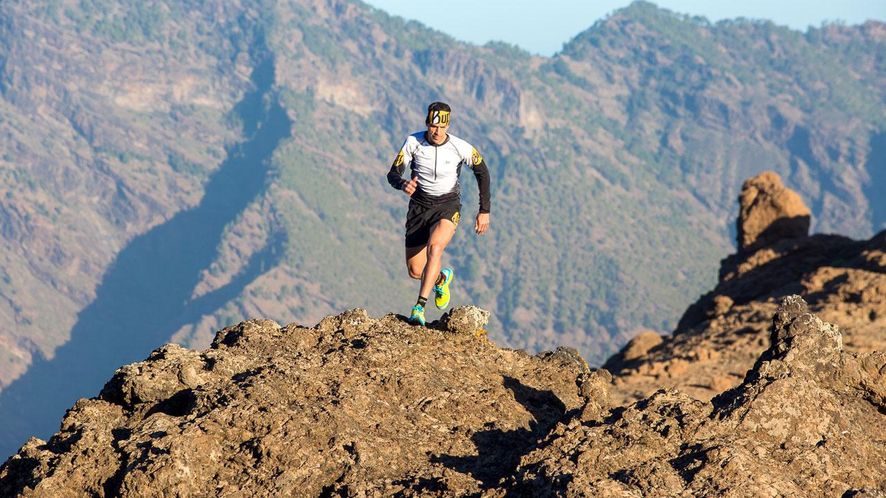 Yeray Durán, practicando ultra-trail en Gran Canaria