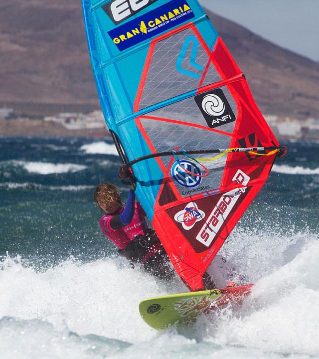 Windsurfista en el mundial de Pozo Izquierdo, Gran Canaria