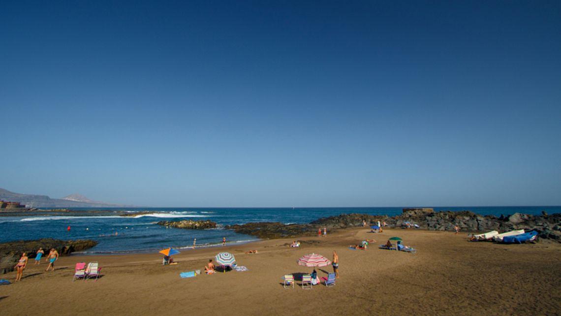 Der Strand von Puertillo in der Gemeinde Arucas