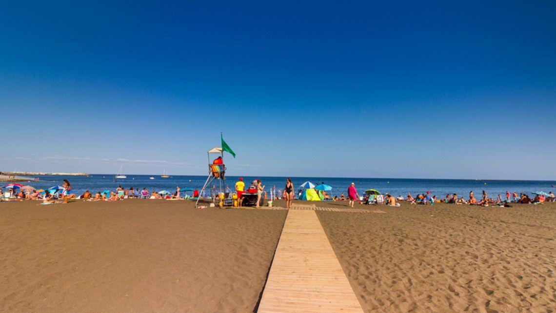 Der Strand von Melenara in Telde