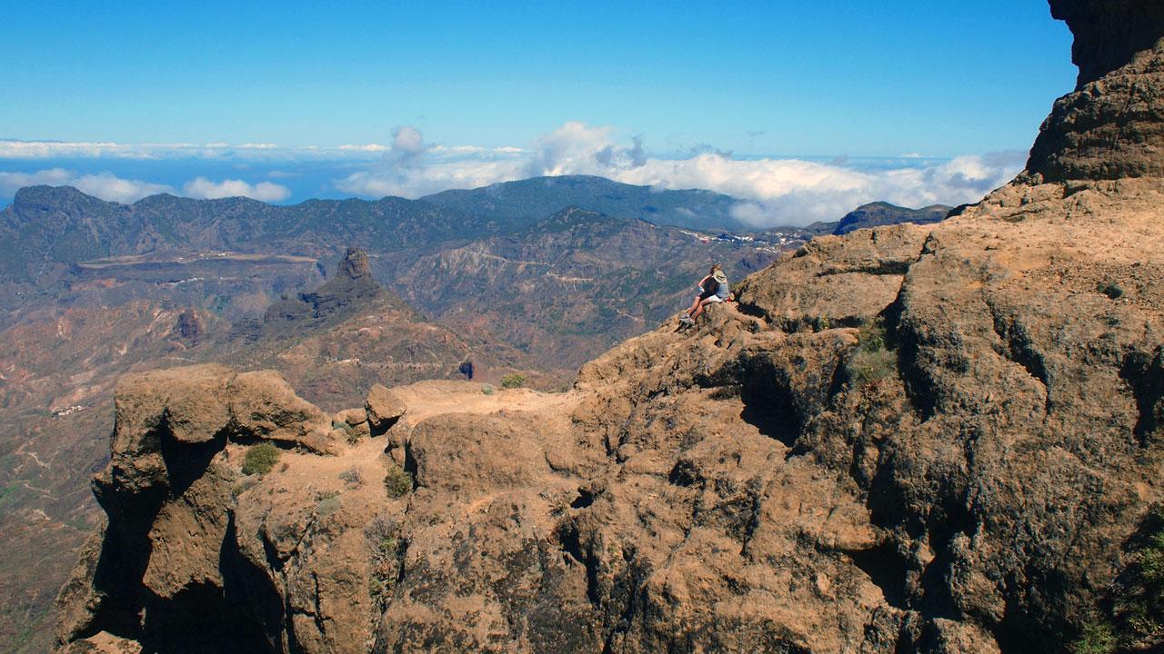 Senderismo con vistas al Roque Bentayga