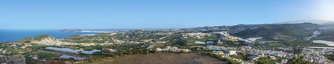 Panoramaansicht von Arucas