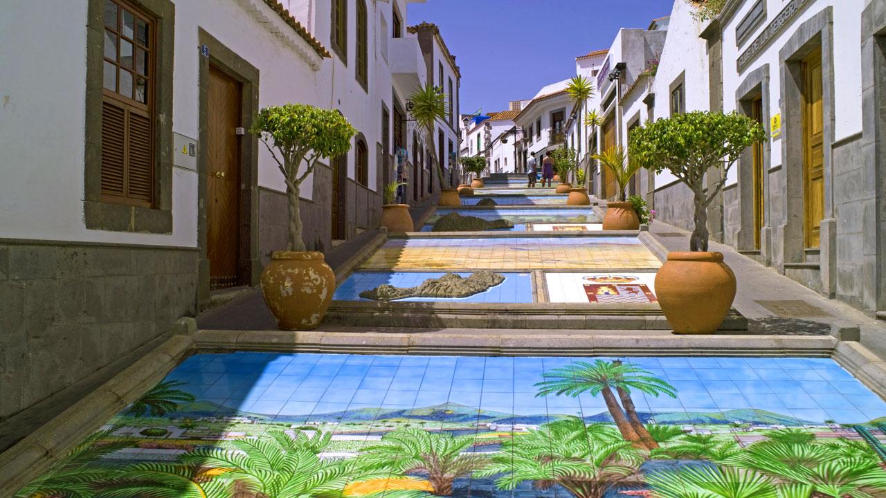 Paseo de Canarias en Firgas, Gran Canaria