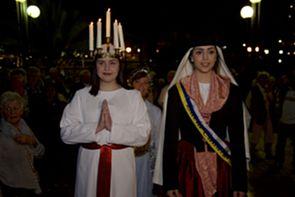 Svensk och kanarisk Lucia i Skandinaviska Turistkyrkan (Templo Ecumenico) i Playa del Inglés