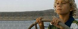 Kapitän am Steuer in Pasito Blanco