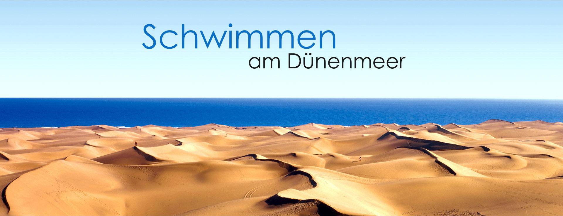 Schwimmen am Dünenmeer