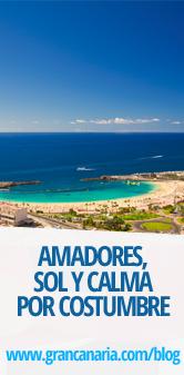 Playa de Amadores, sol y calma por costumbre