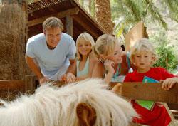 Una familia en Palmitos Park