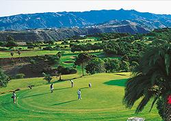 Jugadores en el campo de golf de Bandama