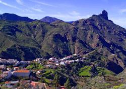 Ansicht des Roque Bentayga