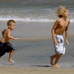 Spiel am Meeresufer von Playa del Inglés