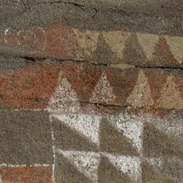 Detail of the rock art in the Cueva Pintada