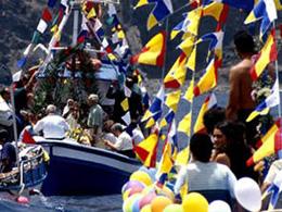 Fishermen honour their patron saint in the festivities of La Virgen del Carmen