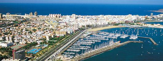 Aerial view of Las Palmas de Gran Canaria