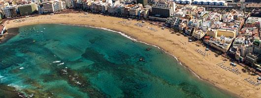 Flygfoto över Las Palmas de Gran Canaria