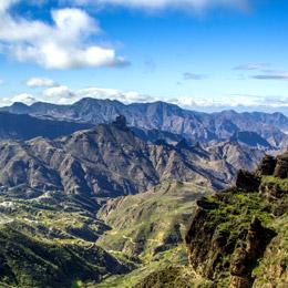 Vy från utsiktsplatsen Degollada de las Palomas