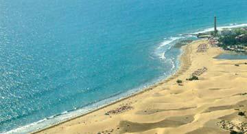 Luftansicht des Dünenmeers von Maspalomas