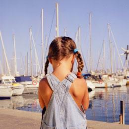 Girl at the Puerto de Mogán