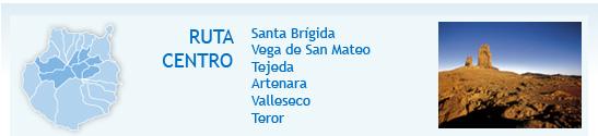 Percurso Centro: Santa Brígida, Vega de San Mateo, Tejeda, Artenara, Valleseco y Teror. Foto: Roque Nublo (Tejeda)