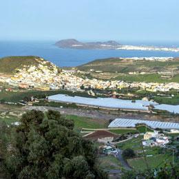 Blick vom Aussichtpunkt Mirador de Las Canteras (Arucas)