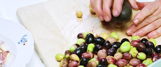 Mashed olives