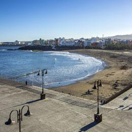 Blick vom Aussichtpunkt Playa de Melenara